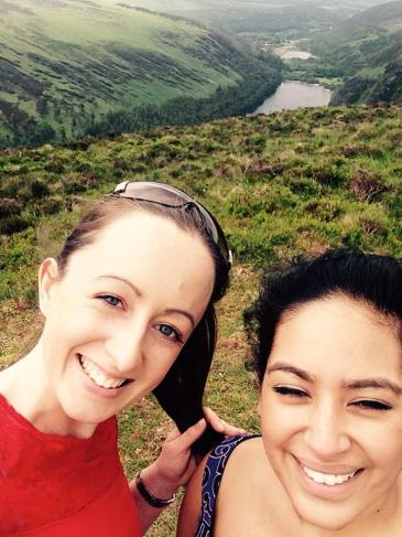 Nature selfie in the Wicklow mountains with one of my hiking friends (Disha Choudhury). Photo- Rebecca Doyle
