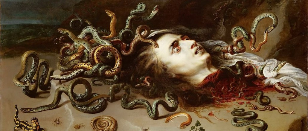 Fig 11 Medusa is a c.1618 painting by the Flemish painter Peter Paul Rubens, showing the severed head of Medusa.