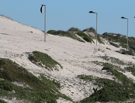 Fig 2. The double negative; As well as being under-appreciated dune systems are highly threatened.