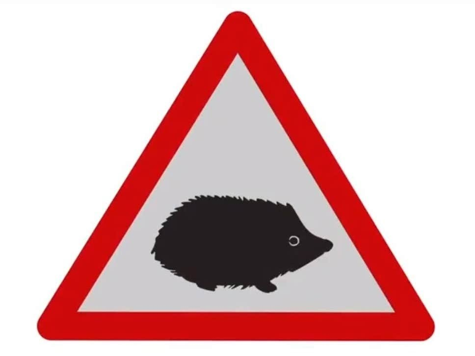 Fig 6. The new Hedgehog Road Sign's which will be rolled out throughout the UK.