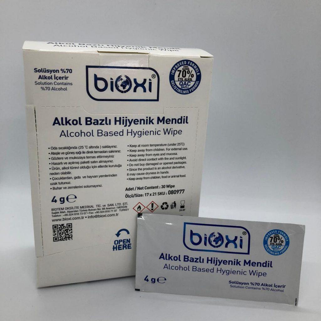 Bioxi Alkol Bazlı Hijyenik Mendil