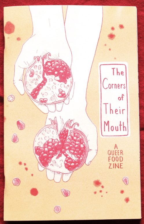 the corners of their mouth zine art