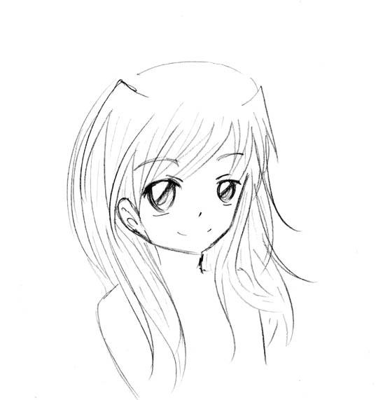 Рисунки аниме лица для срисовки (17 фото) 🔥 Прикольные ...