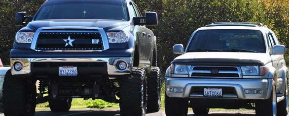 Американские машины с очень большими колесами 🔥 Прикольные ...