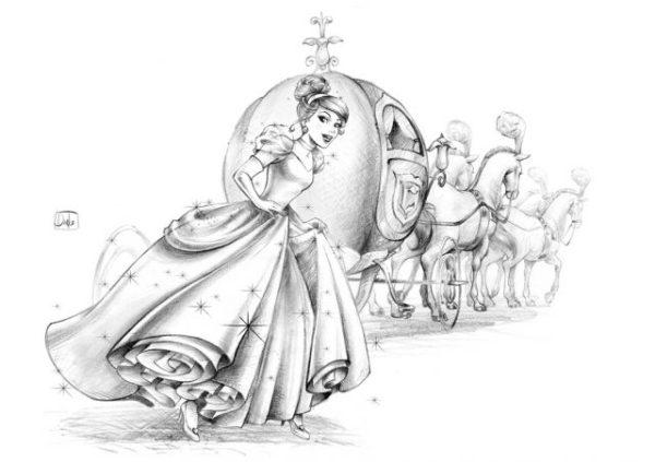 Рисунок карандашом для срисовки Золушка (23 фото ...