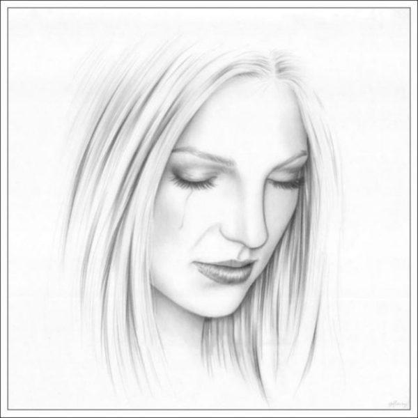 Рисунки карандашом девушка с закрытыми глазами (19 фото ...