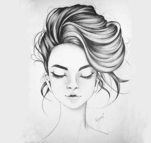 Рисунки карандашом девушки с закрытыми глазами (16 фото ...