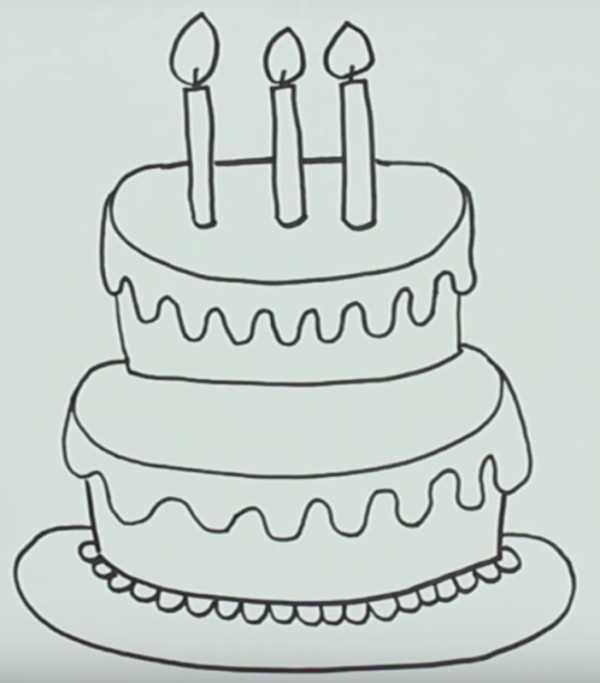 Рисунок с днем рождения карандашом (17 фото) 🔥 Прикольные ...