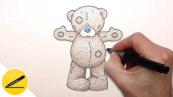 Рисунки карандашом мишка Тедди (28 фото) 🔥 Прикольные ...
