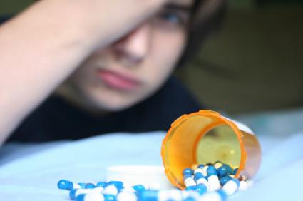 boy with pills