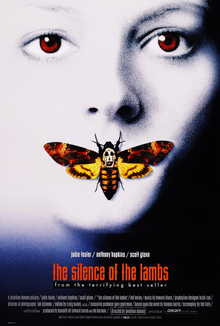 This is a theatrical poster of the Silence of the Lambs