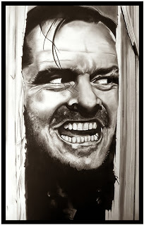 Picture of Jack Nicholson in the Shining depicting madness