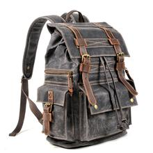 Canvas bag for men Lukecase Waxed Canvas Waterproof Backpack