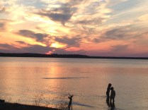 A gorgeous sunset in Munising, MI