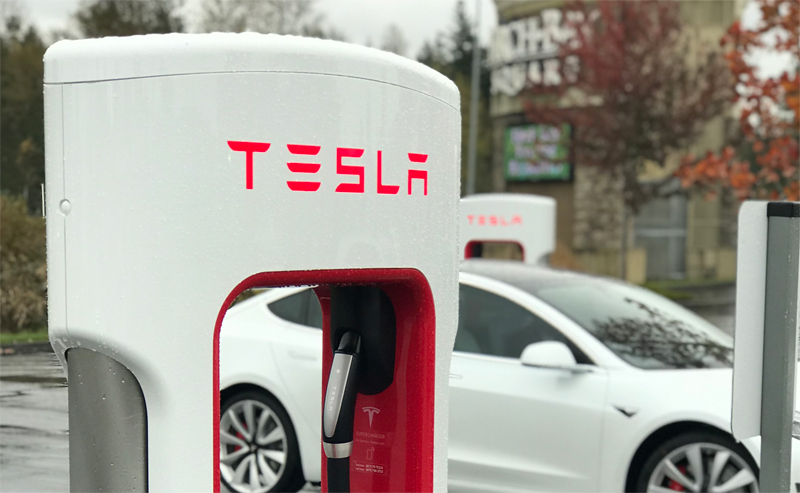 tesla charging stations at birch bay square