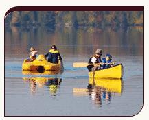 Autumn canoeists