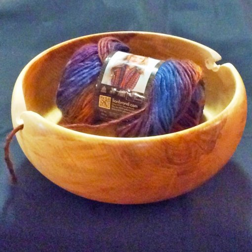 Custom Birch Yarn Bowl