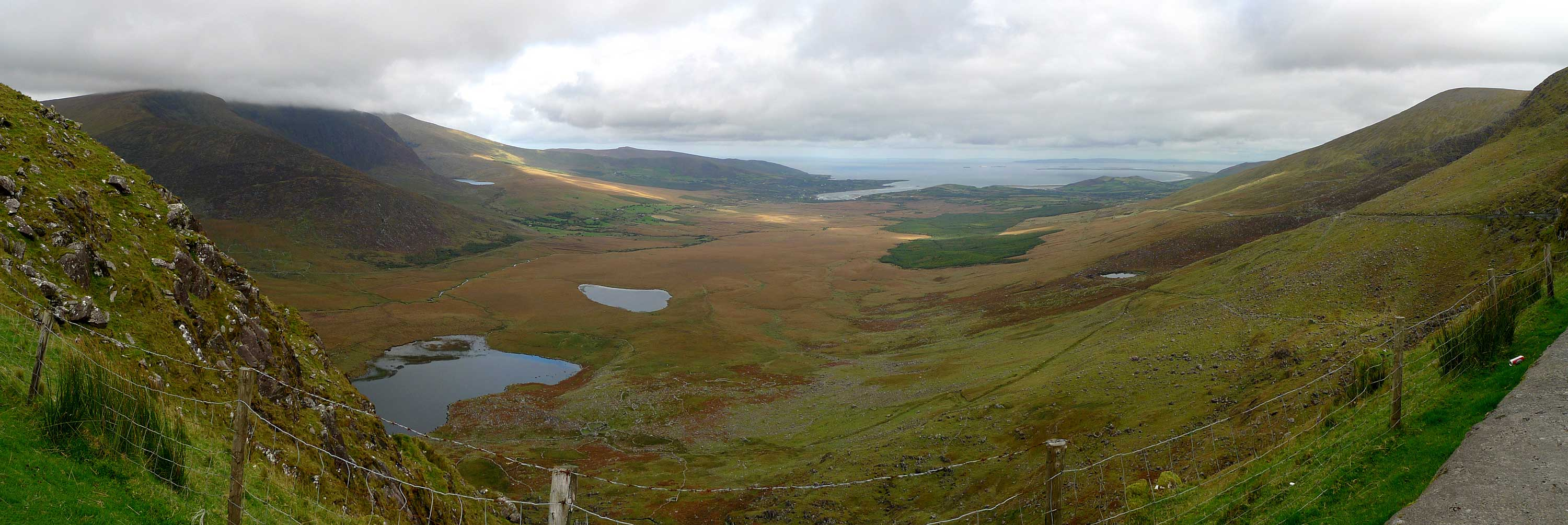 Dingle Peninsula, looking to north coast from pass