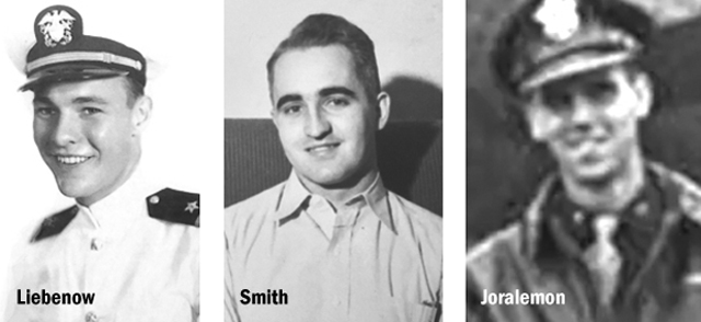 1940s photos of young Liebenow, Smith and Joralemon
