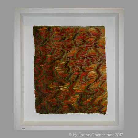 Louise Oppenheimer. Tapestry Weaving 'Bracken Pattern 3'