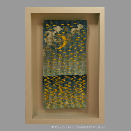 L. Oppenheimer. Tapestry Weaving. 'By the Light of the Moon'