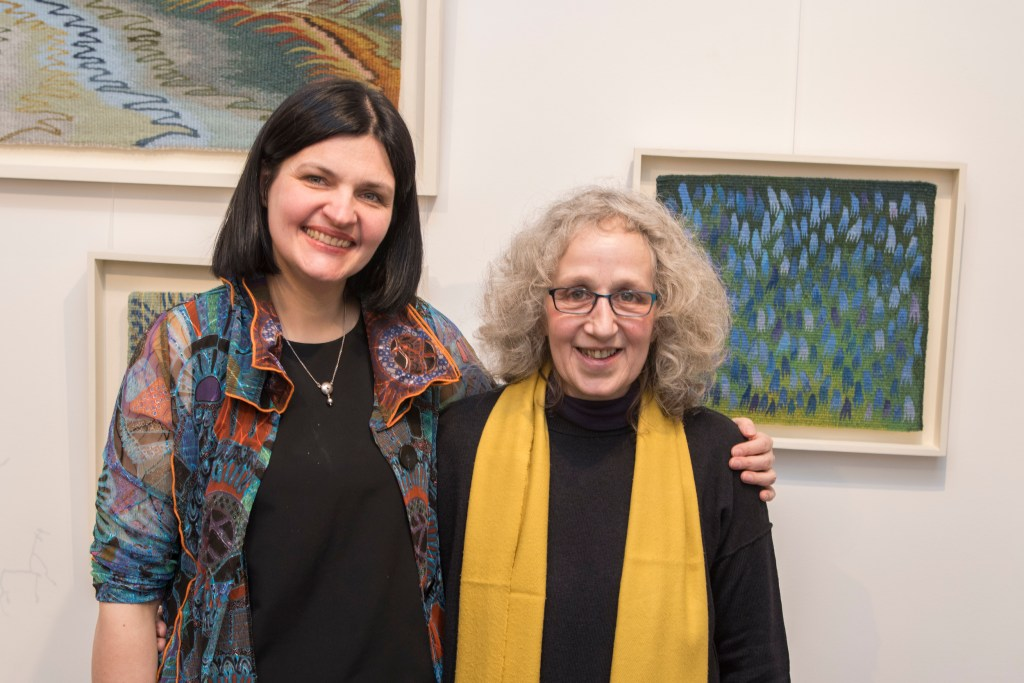 Louise Oppenheimer and Jurgita Galbraith at Birch Tree Gallery, Edinburgh