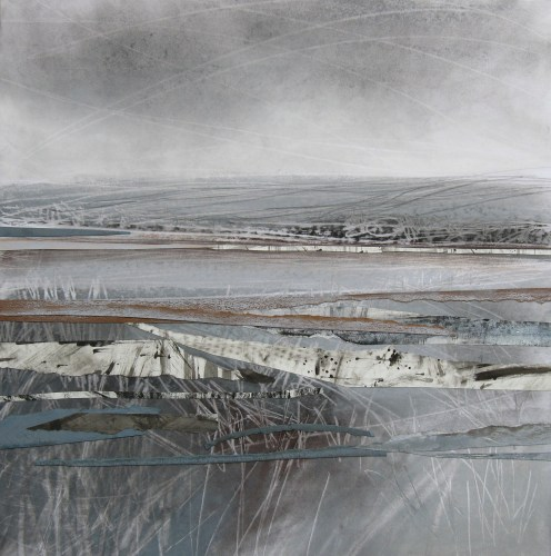 Edge-of-the-Wolds-Janine-Baldwin-acrylic-pastel-charcoal-and-graphite-collage-on-card-37-x-37cm