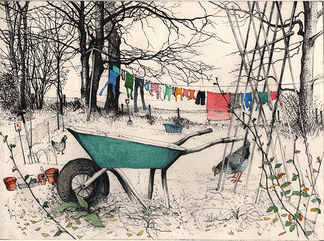 Pamela Grace - Wheelbarrow washing (solarplate washing)