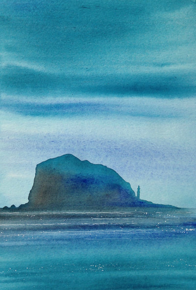 Ian Scott Massie. Bass Rock 40 x 30cm