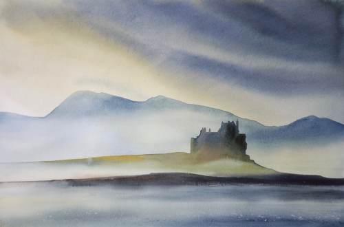 Ian Scott Massie. Duart Castle 40 x 50cm