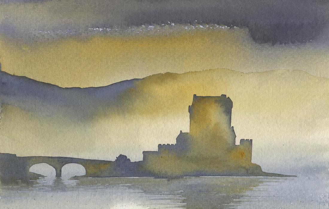 Ian Scott Massie. Eileen Donnan, Evening. 30 x 40cm