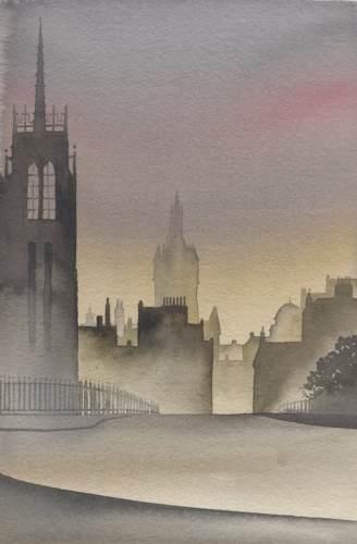 Ian Scott Massie. Memories of Aberdeen 40 x 30cm
