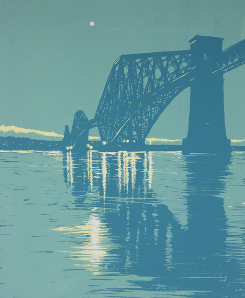Ian Scott Massie. The Forth Bridge 60 x 50cm