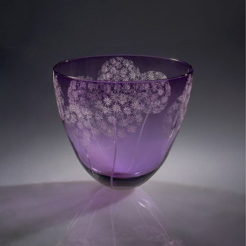 New work by glass artist Julia Linstead, based in the Scottish Borders