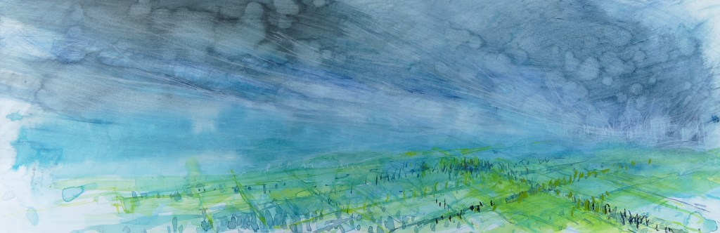 Libby Scott, Calm Before the Storm, 30 x 70cm