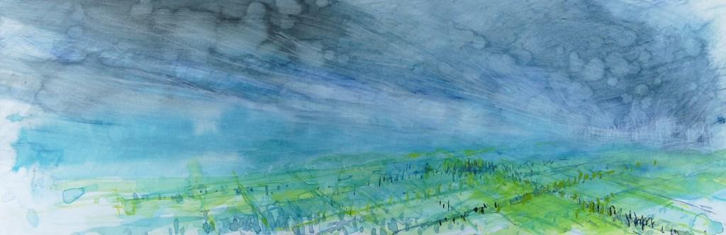 Libby Scott, Calm Before the Storm, 30 x 70cm