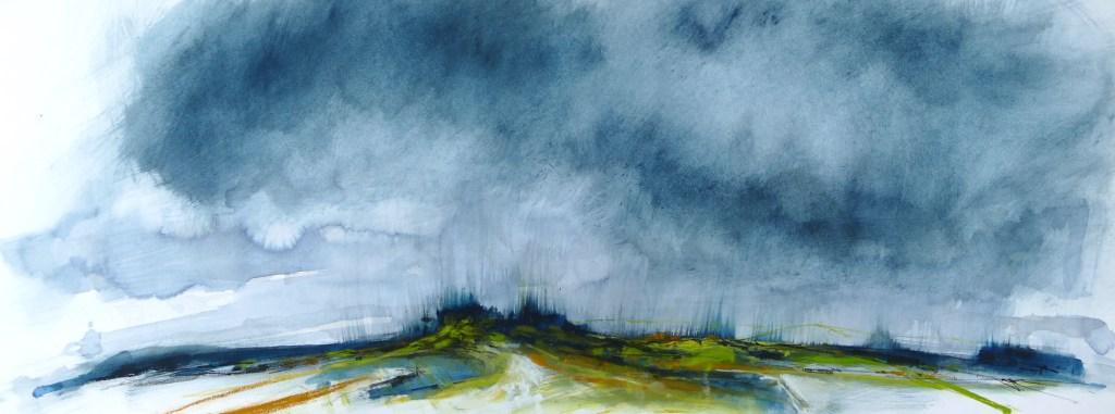 Libby Scott, Magnetic Fueds, 40 x 80cm