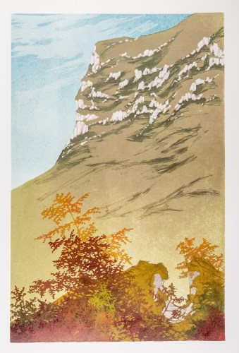 Laura Boswell. Autumn Colour (linocut, 365 x 560)