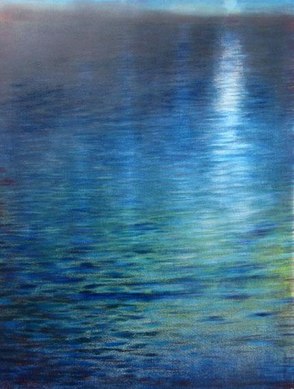 Ian McNicol. Moonlight (monotype)