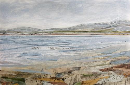Shoreline-Isle-of-Skye-Janine-Baldwin-acrylic-pastel-charcoal-and-graphite-collage-on-card-25-x-38cm