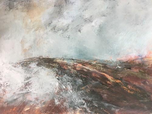 Penny Hunt. Descending Mists 69x54cm glazed