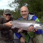 A rainbow from the guided fishing trip with Dave Wilson