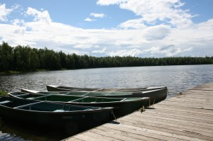 Canoes and Psalm Lake