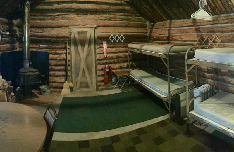 Inside Trapper Cabin