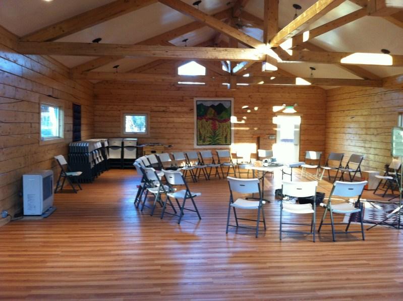 Inside upper Fireweed Hall
