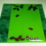 10 x 10 fused glass platter by Mindy Meyn