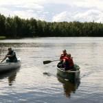 Canoeing on Psalm Lake