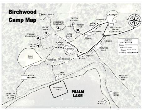 Birchwood Camp Map