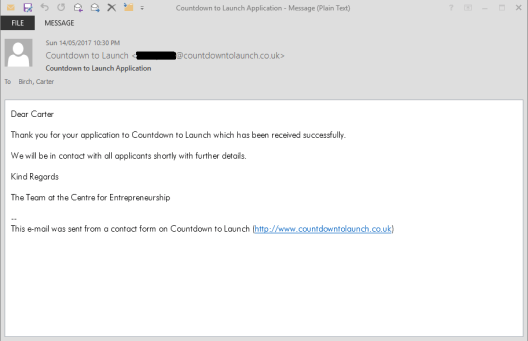 CDTL Application Email Confirmed Edited
