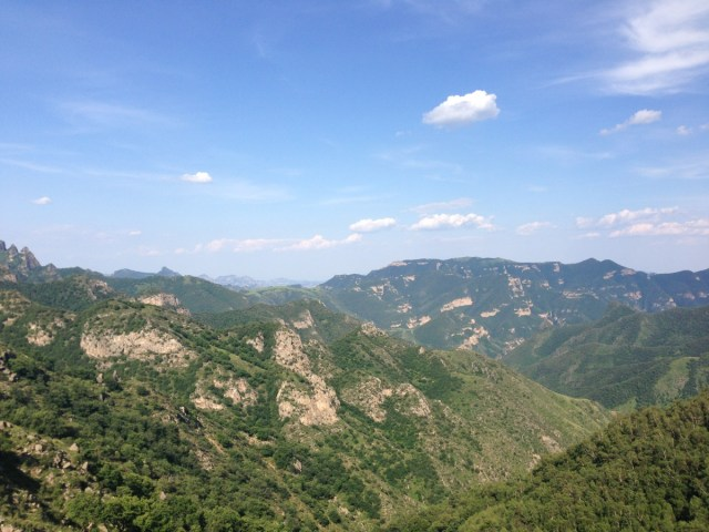 A view to the north-east from Lingshan.  Hard to believe it's Beijing.